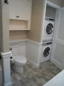 Bathroom Remodel with Washer and Dryer